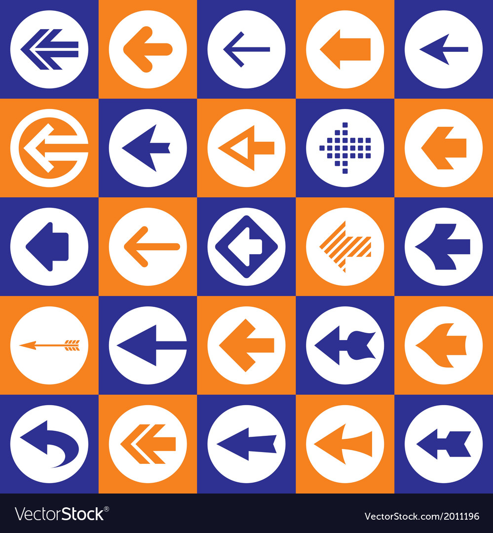 Arrows sign - icons set vector | Price: 1 Credit (USD $1)