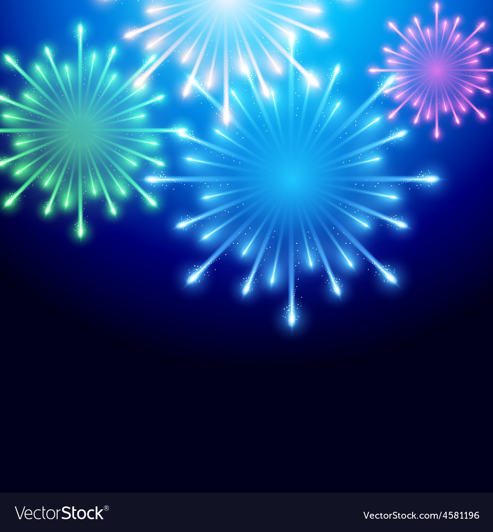 Beautiful fireworks vector | Price: 1 Credit (USD $1)