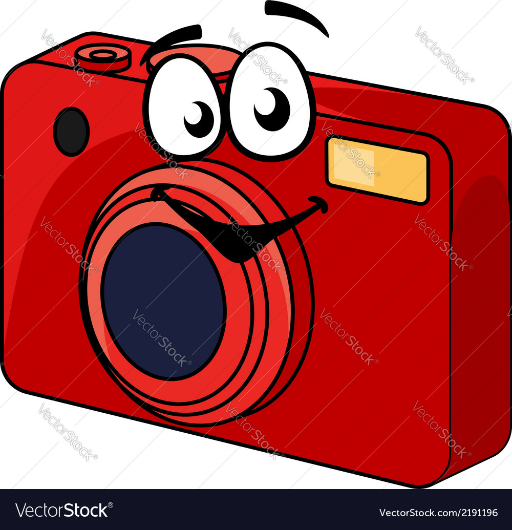 Colorful red point and shoot camera vector | Price: 1 Credit (USD $1)