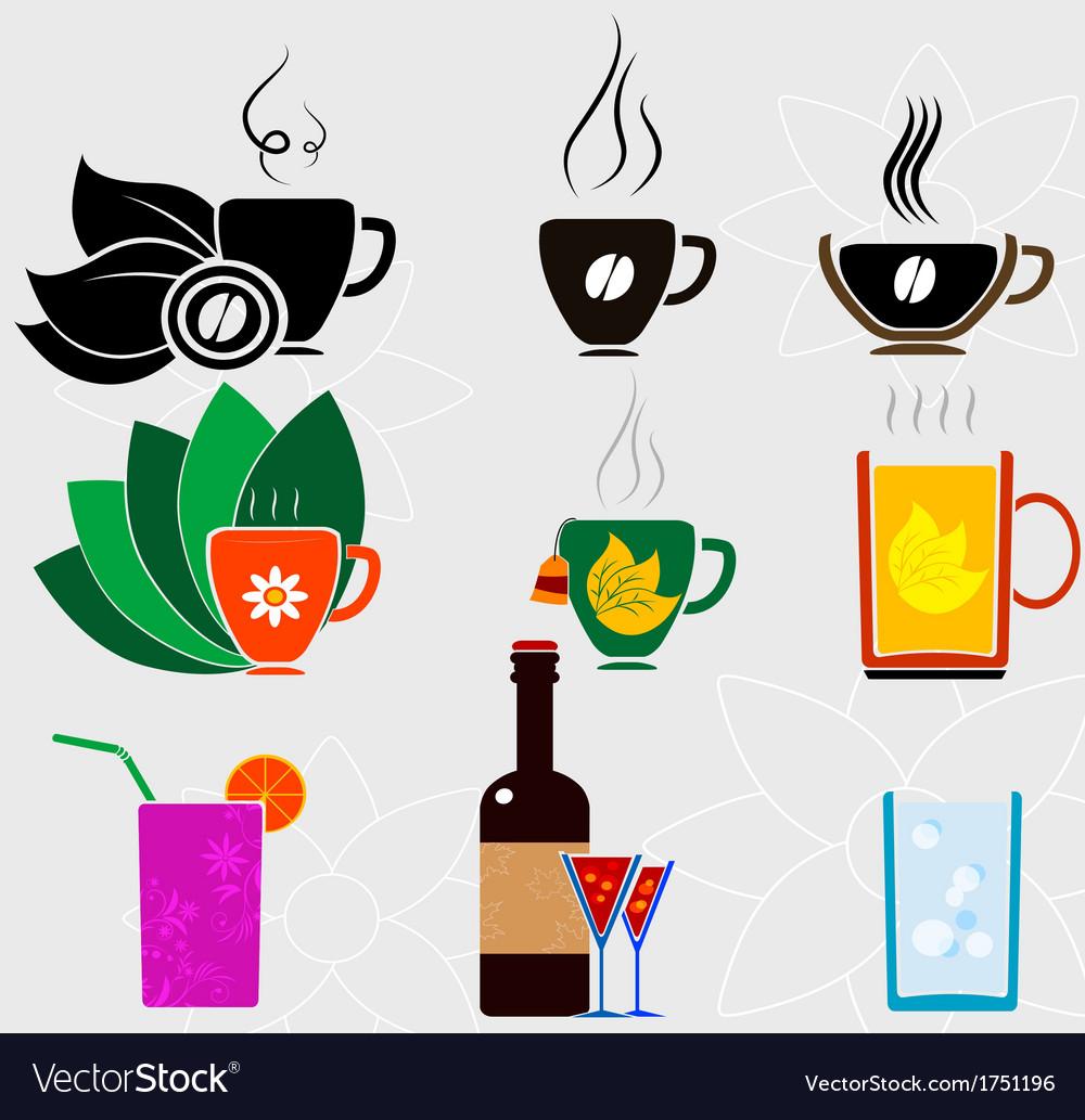 Cup set 2 vector | Price: 1 Credit (USD $1)