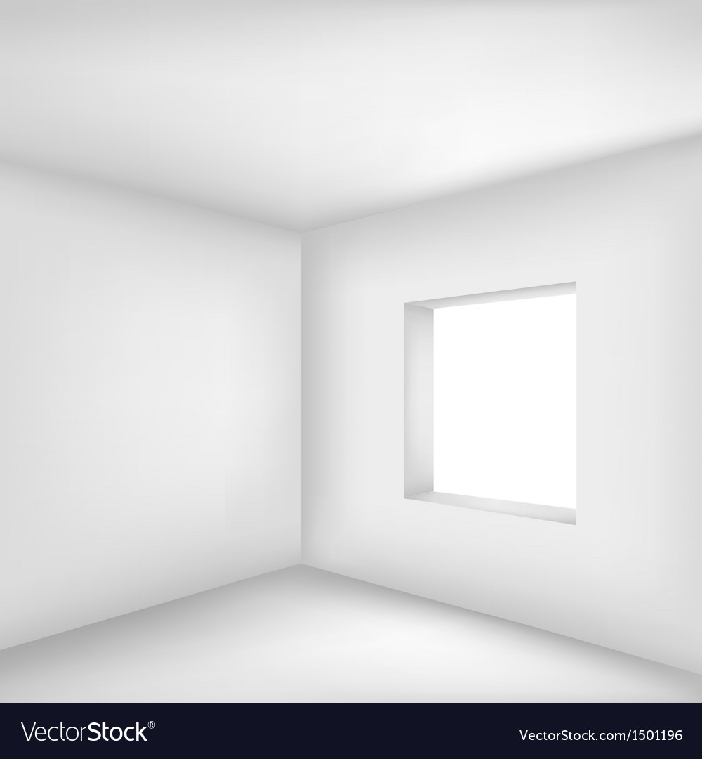Empty white room vector | Price: 1 Credit (USD $1)