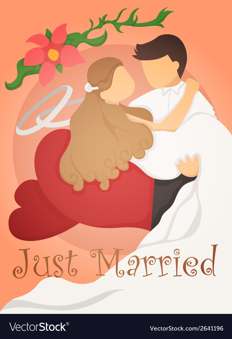 Just married wedding invitation card design vector | Price: 1 Credit (USD $1)