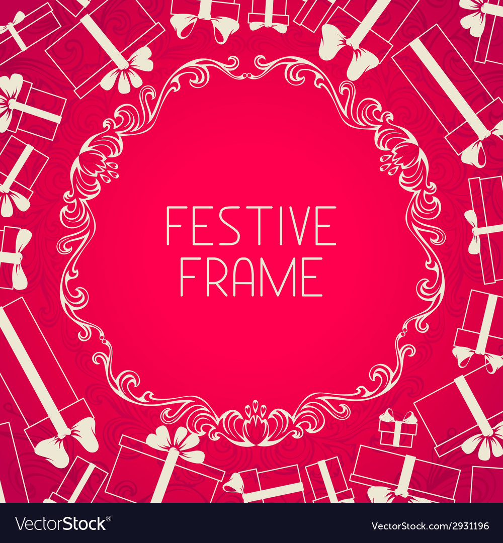 Pink festive background vector | Price: 1 Credit (USD $1)
