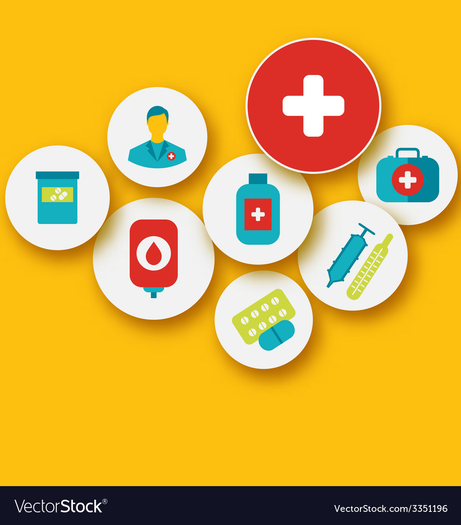 Set colorful medical icons for your design - vector | Price: 1 Credit (USD $1)