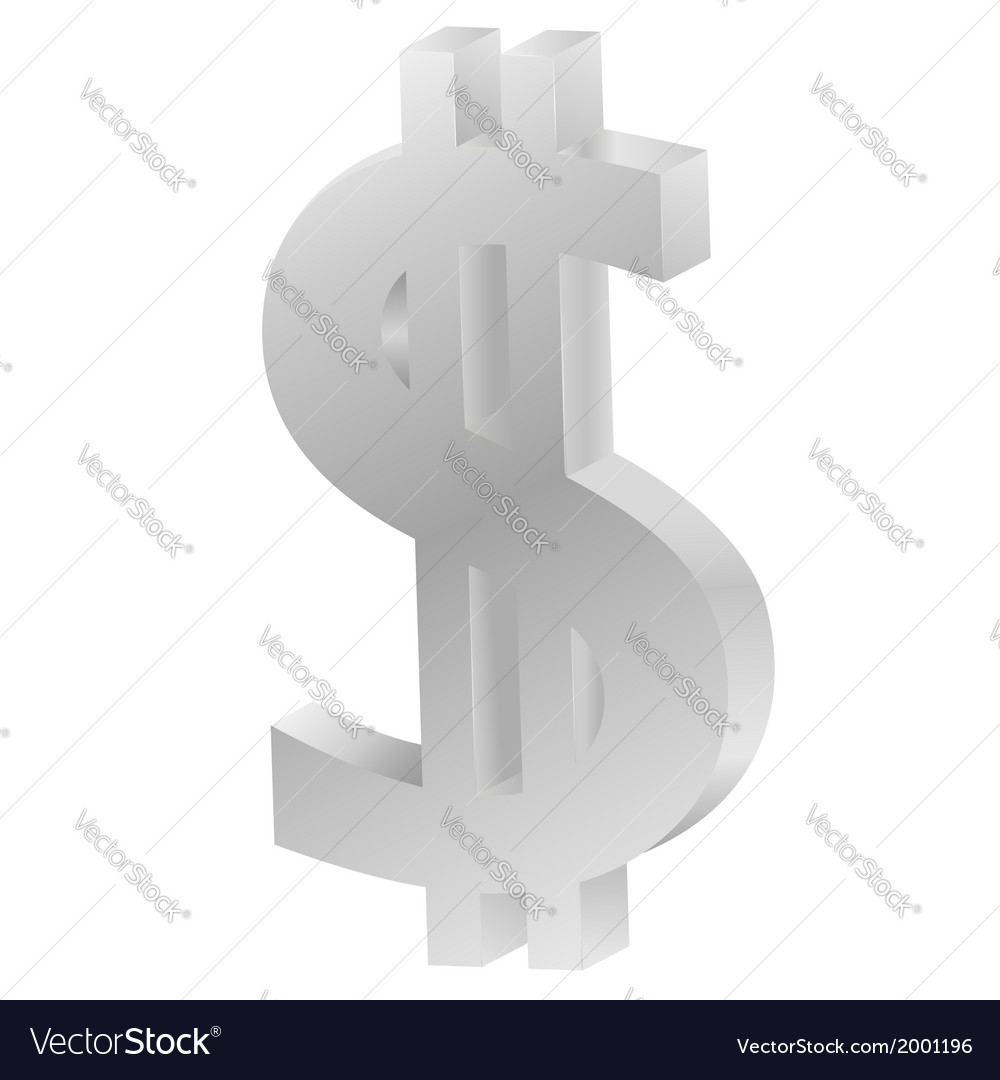 Sign of dollar vector | Price: 1 Credit (USD $1)