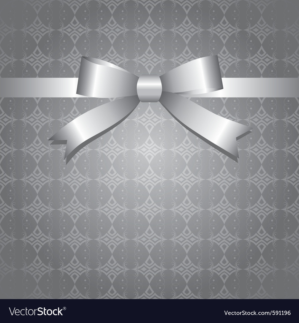 Silver bow vector | Price: 1 Credit (USD $1)