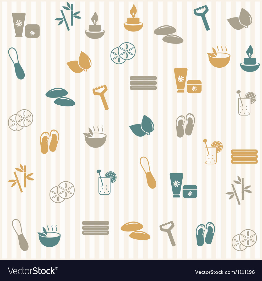 Spa seamless pattern vector | Price: 1 Credit (USD $1)