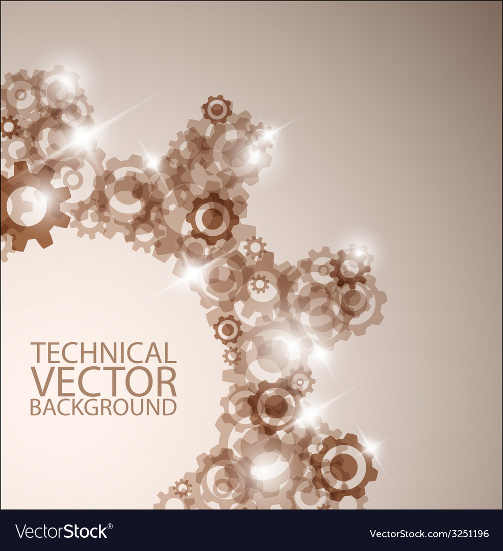 Technical background made from cogwheels vector | Price: 1 Credit (USD $1)