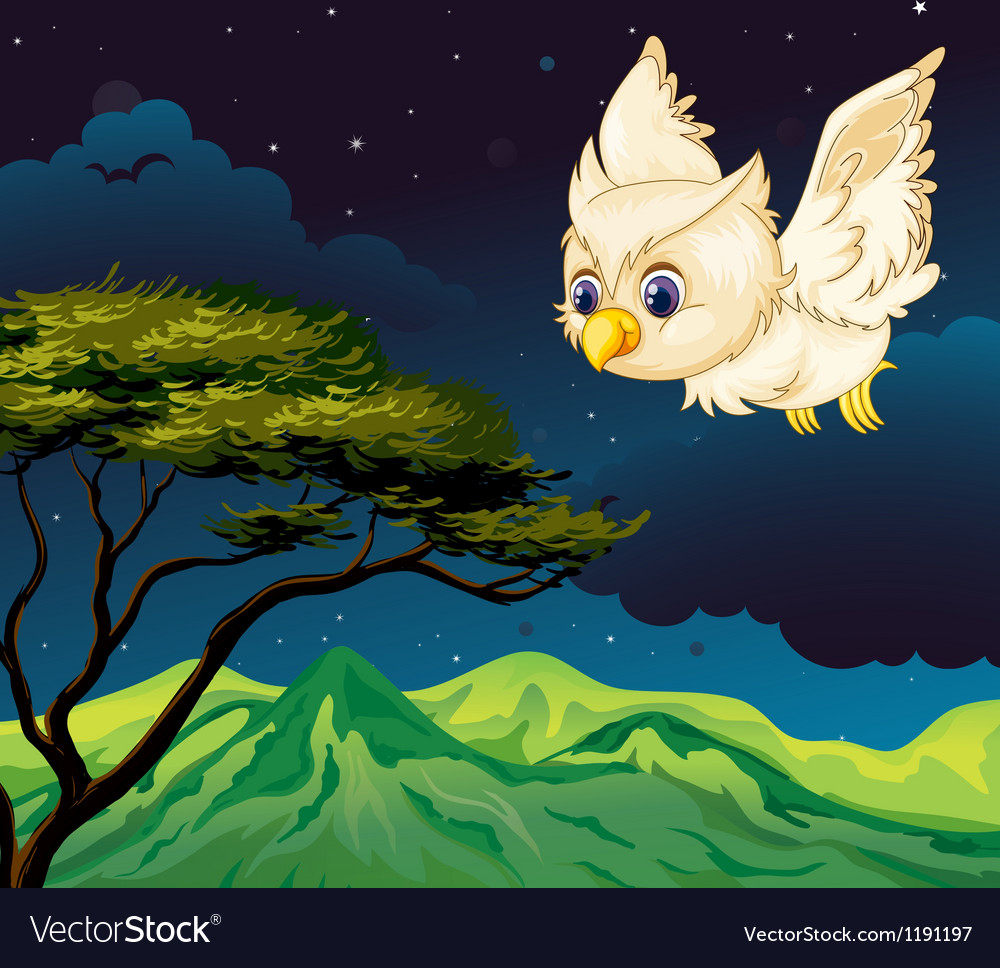 An owl flying vector | Price: 1 Credit (USD $1)