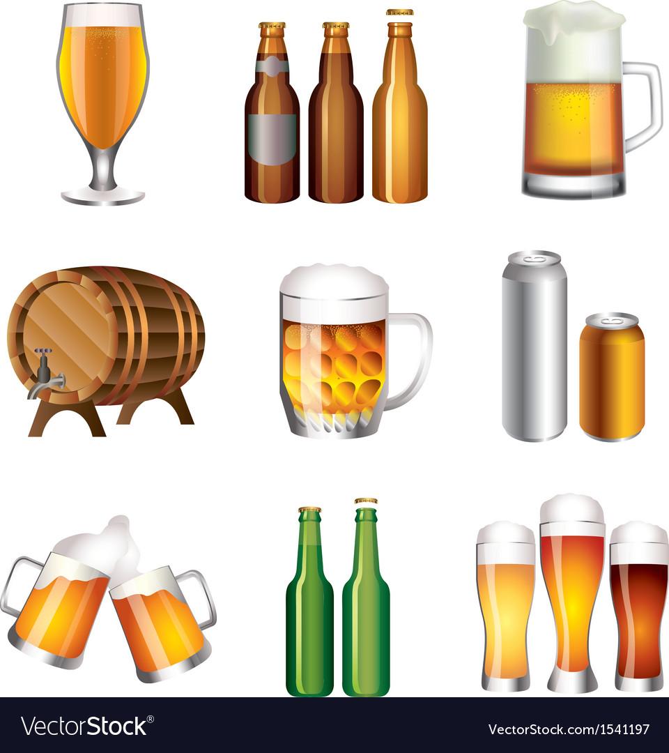 Beer set vector | Price: 3 Credit (USD $3)