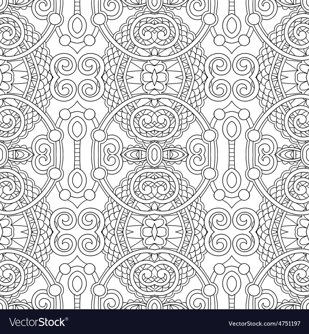 Black and white seamless pattern vector | Price: 1 Credit (USD $1)