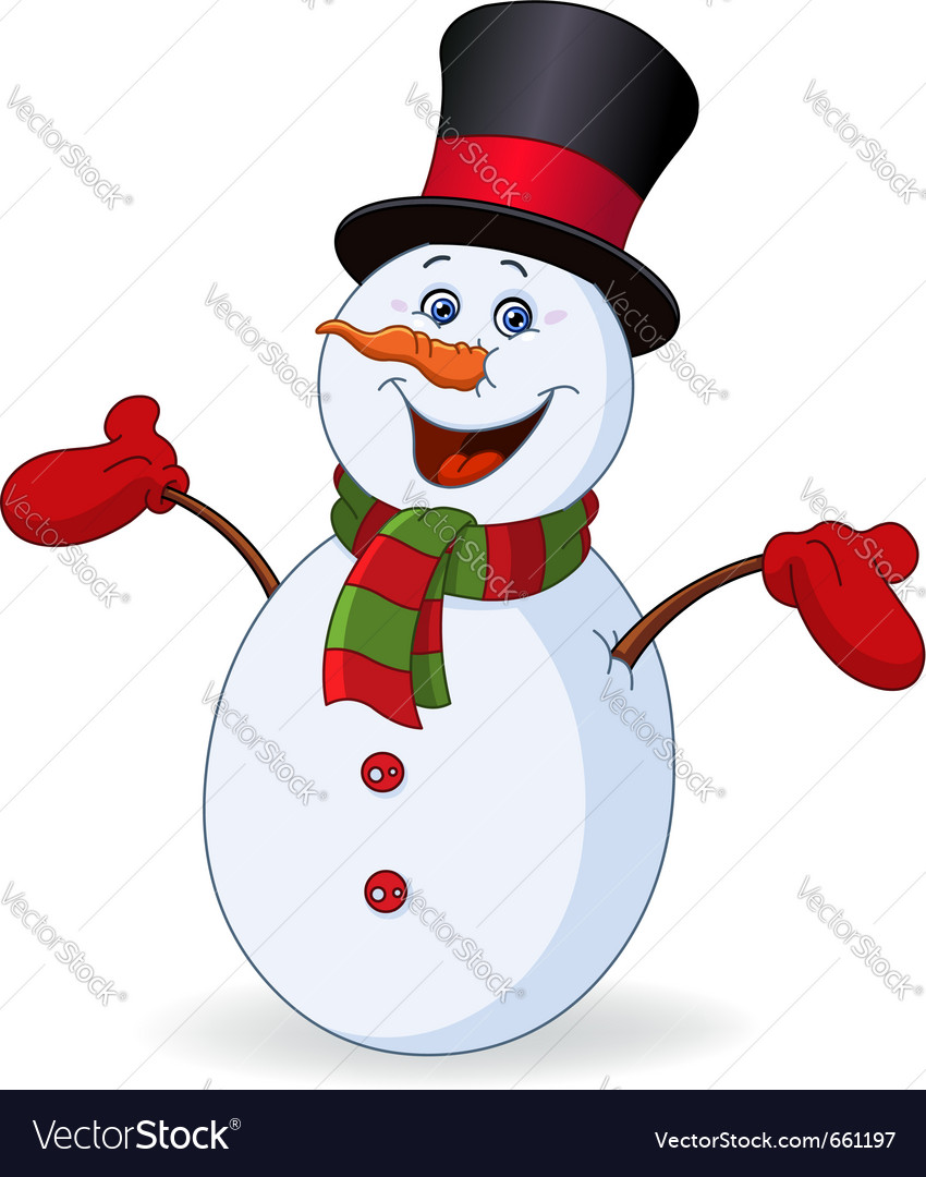 Cheerful snowman vector | Price: 3 Credit (USD $3)