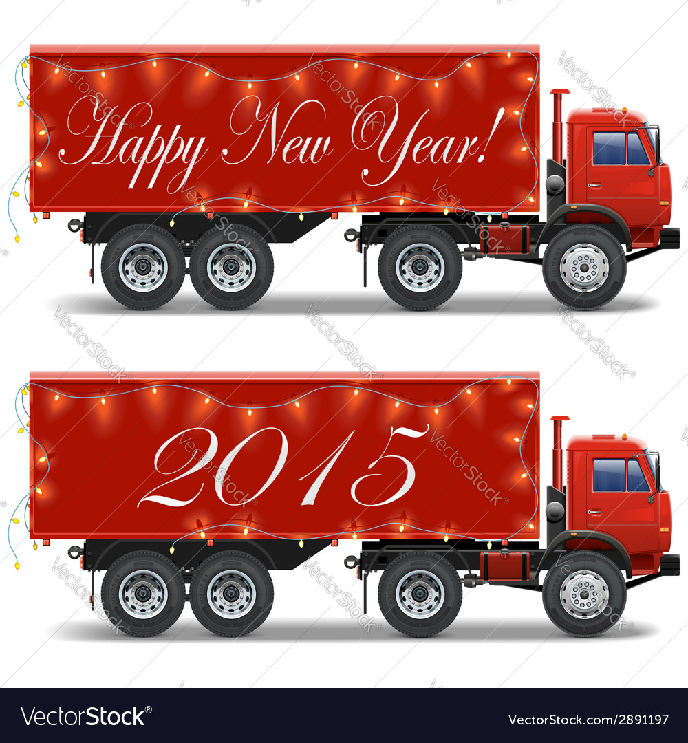 Christmas truck vector | Price: 1 Credit (USD $1)