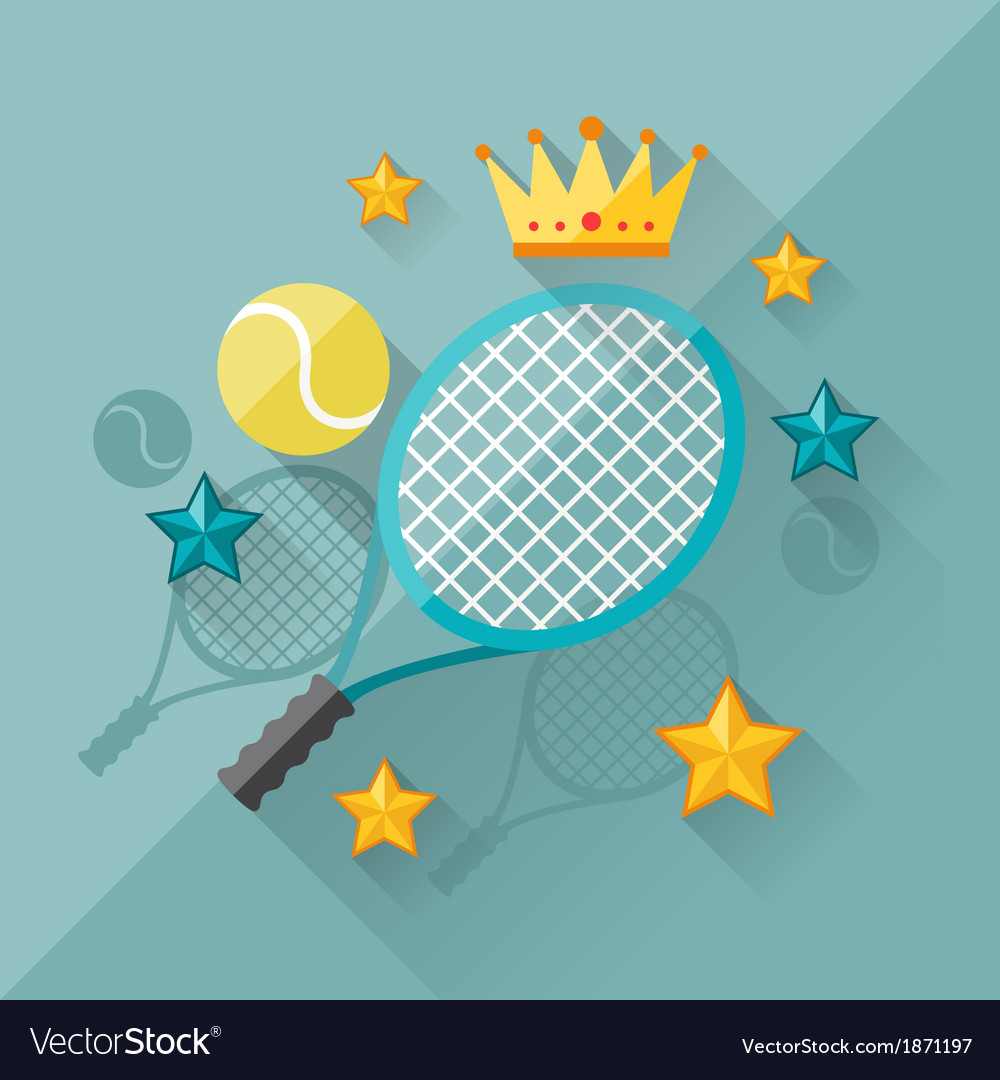 Concept of tennis in flat design style vector | Price: 1 Credit (USD $1)