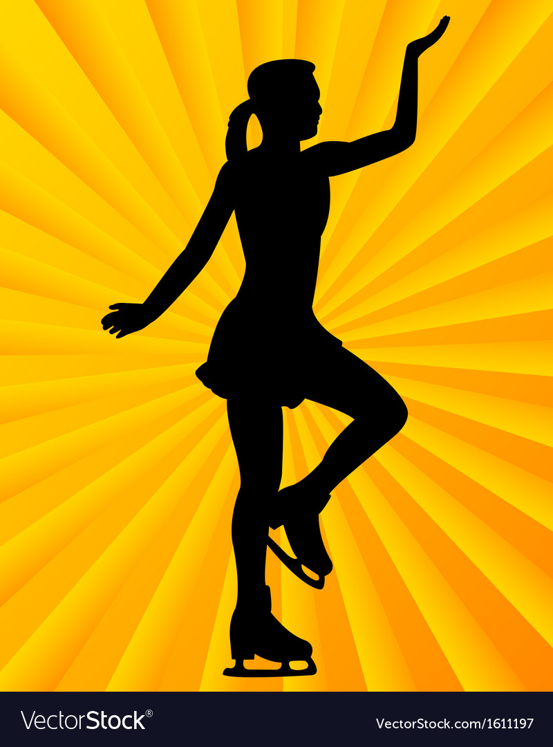 Figure skater1 vector | Price: 1 Credit (USD $1)