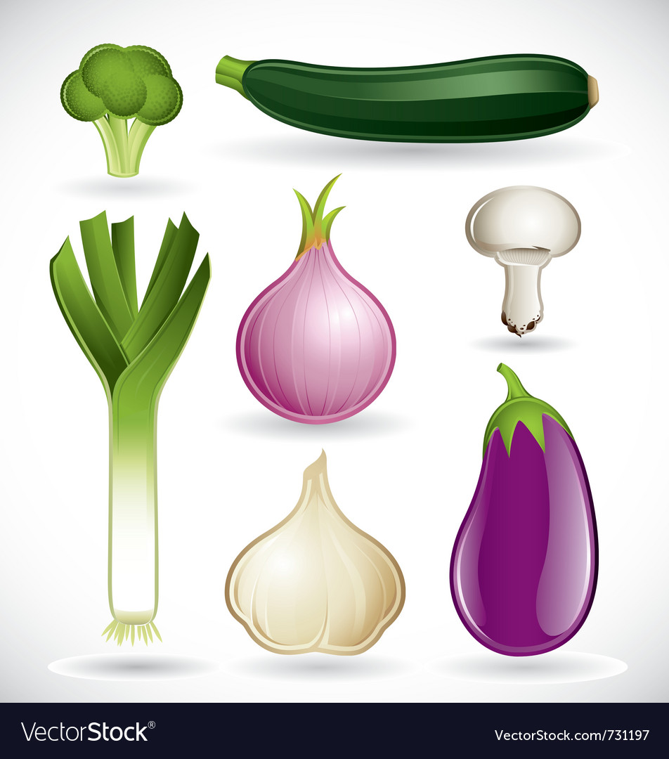 Mixed vegetables - set 2 of 2 vector | Price: 5 Credit (USD $5)