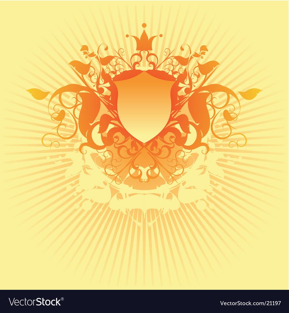 Ornate shield vector | Price: 1 Credit (USD $1)