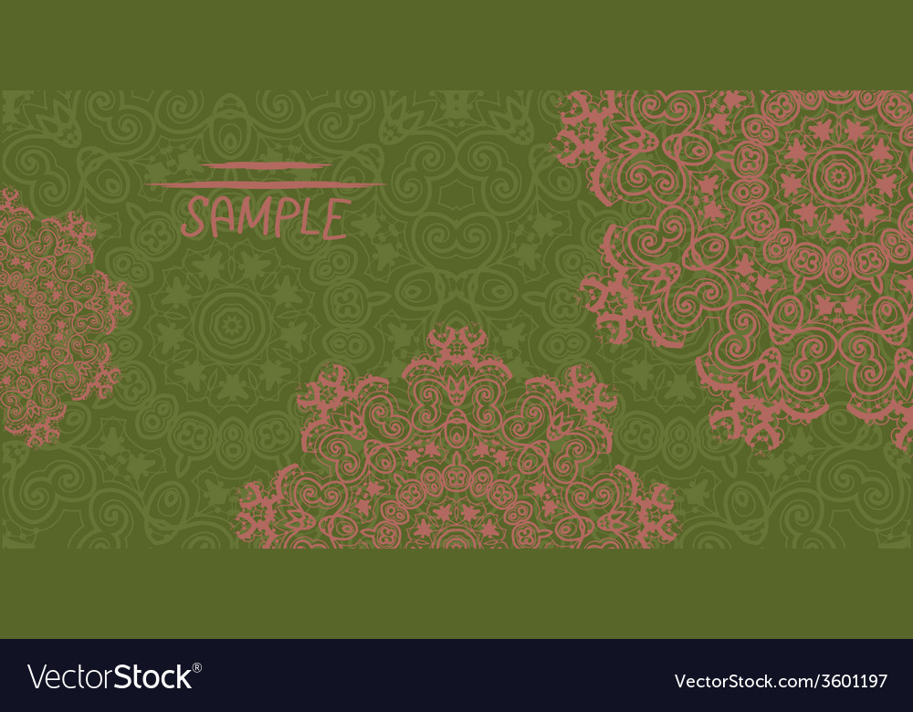 Ornate wedding invitation card based on indian vector | Price: 1 Credit (USD $1)