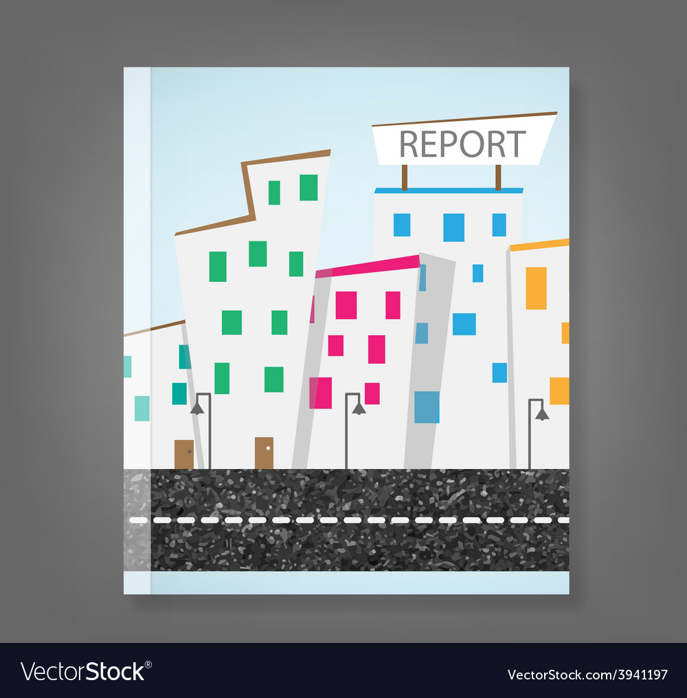 Report urban landscape and road vector | Price: 1 Credit (USD $1)