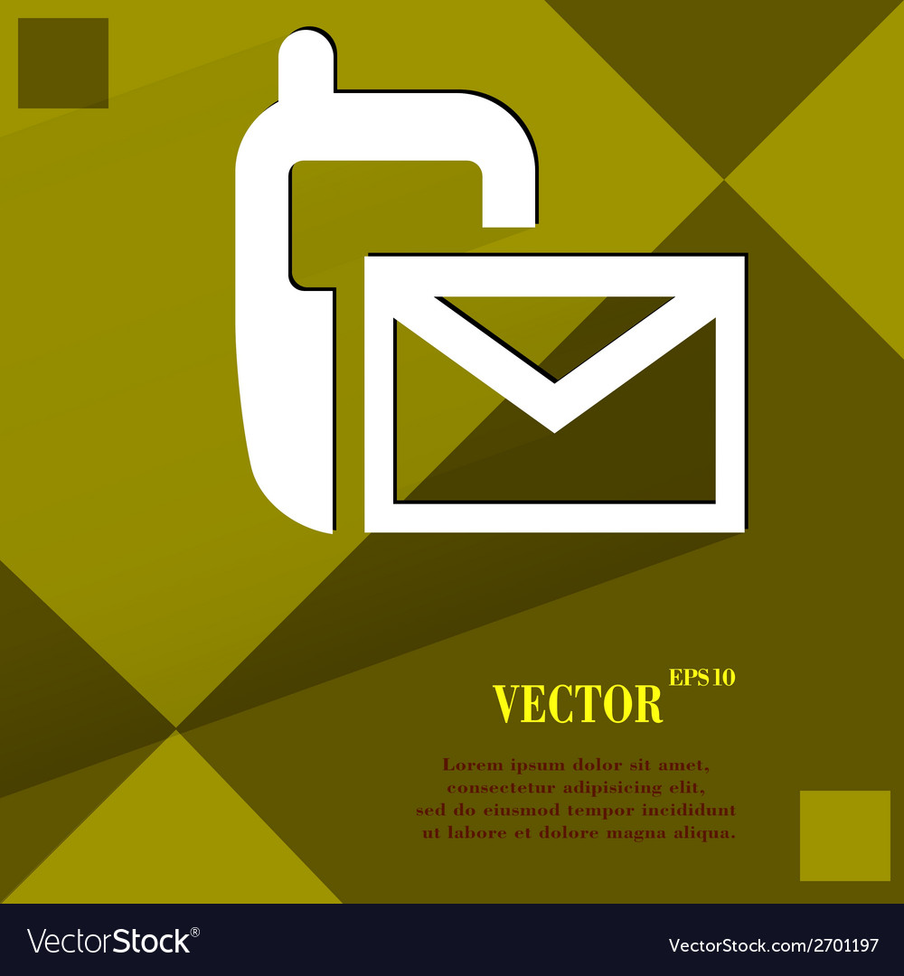 Sms flat modern web design on a flat geometric vector | Price: 1 Credit (USD $1)