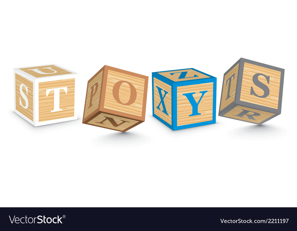 Word toys written with alphabet blocks vector   Price: 1 Credit (USD $1)