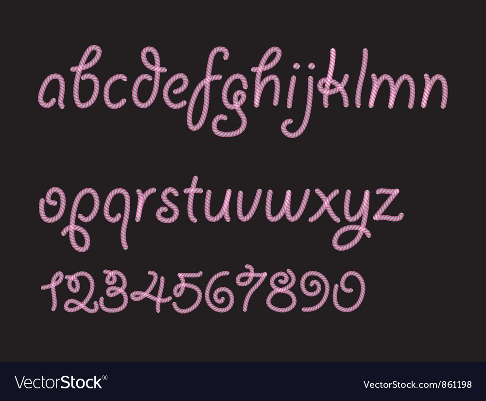 Abstract candy font vector | Price: 1 Credit (USD $1)