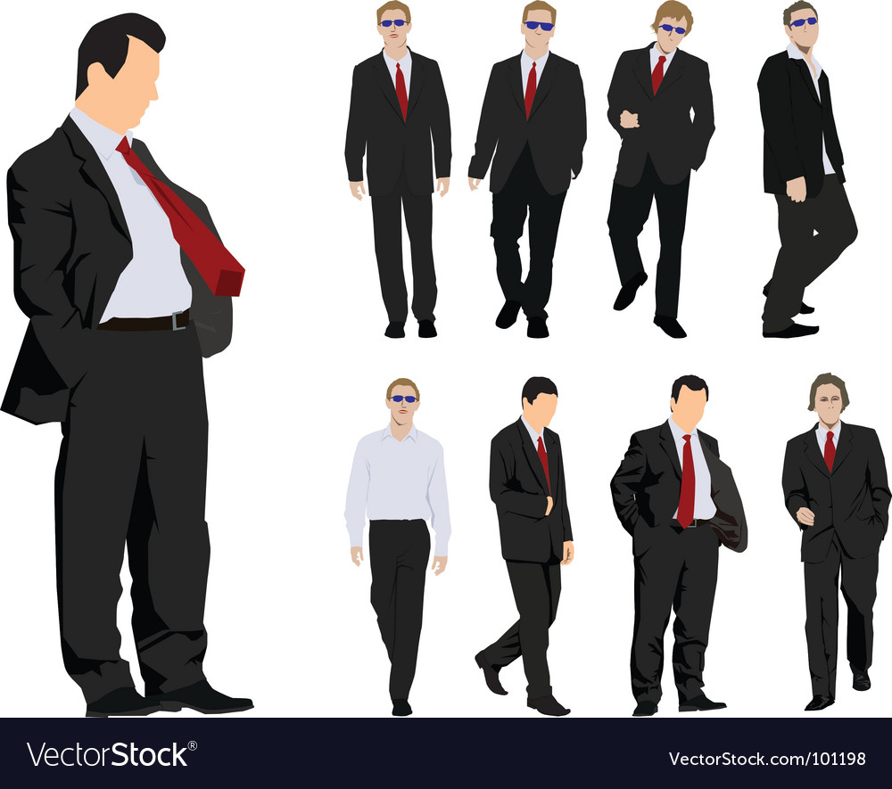 Businessmen silhouette vector | Price: 1 Credit (USD $1)