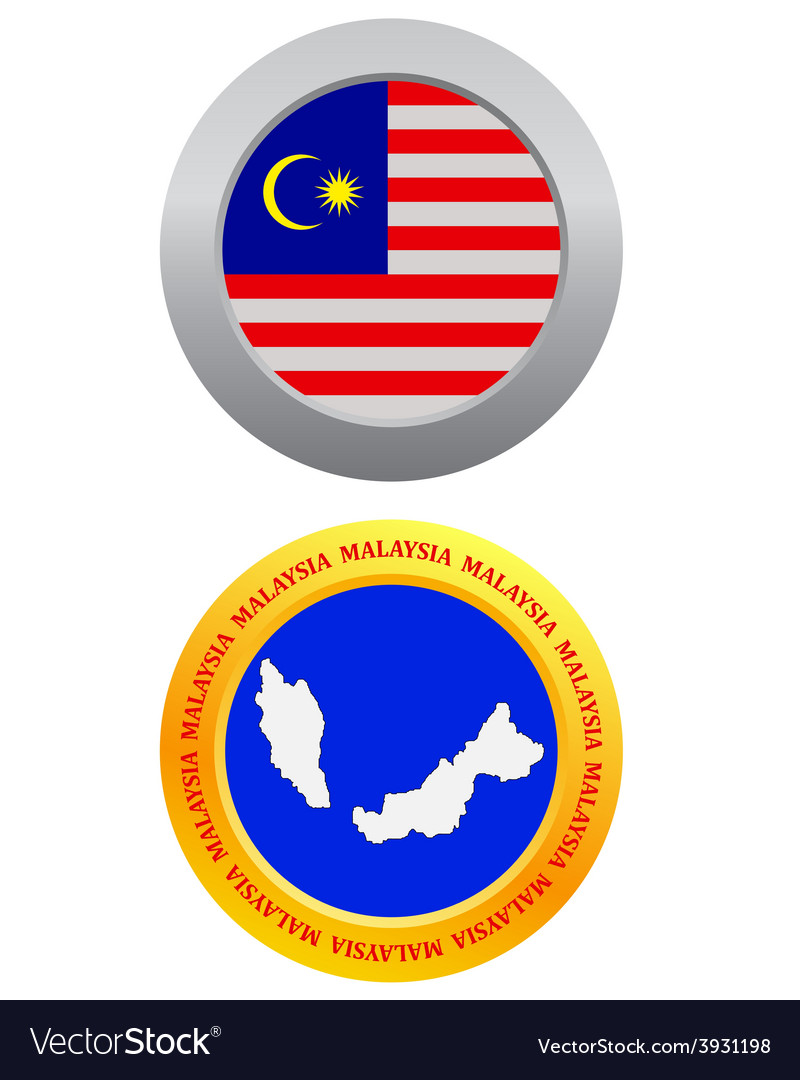 Button as a symbol malaysia vector | Price: 1 Credit (USD $1)