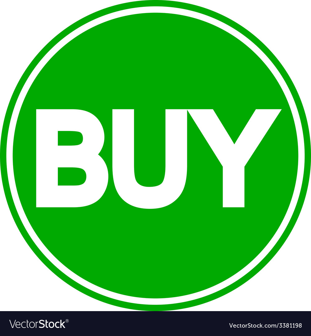 Buy button isolated vector   Price: 1 Credit (USD $1)