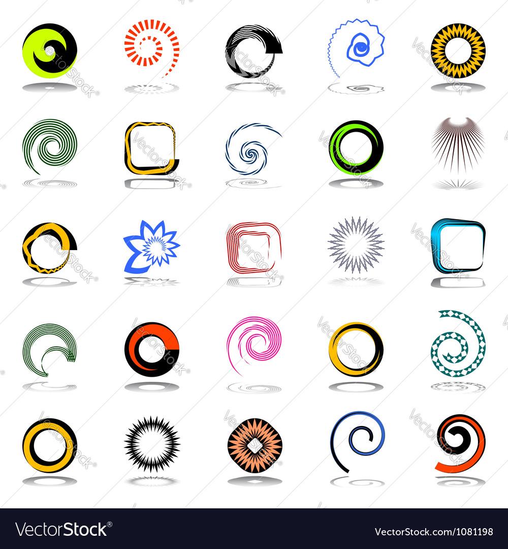 Design elements set vector | Price: 1 Credit (USD $1)