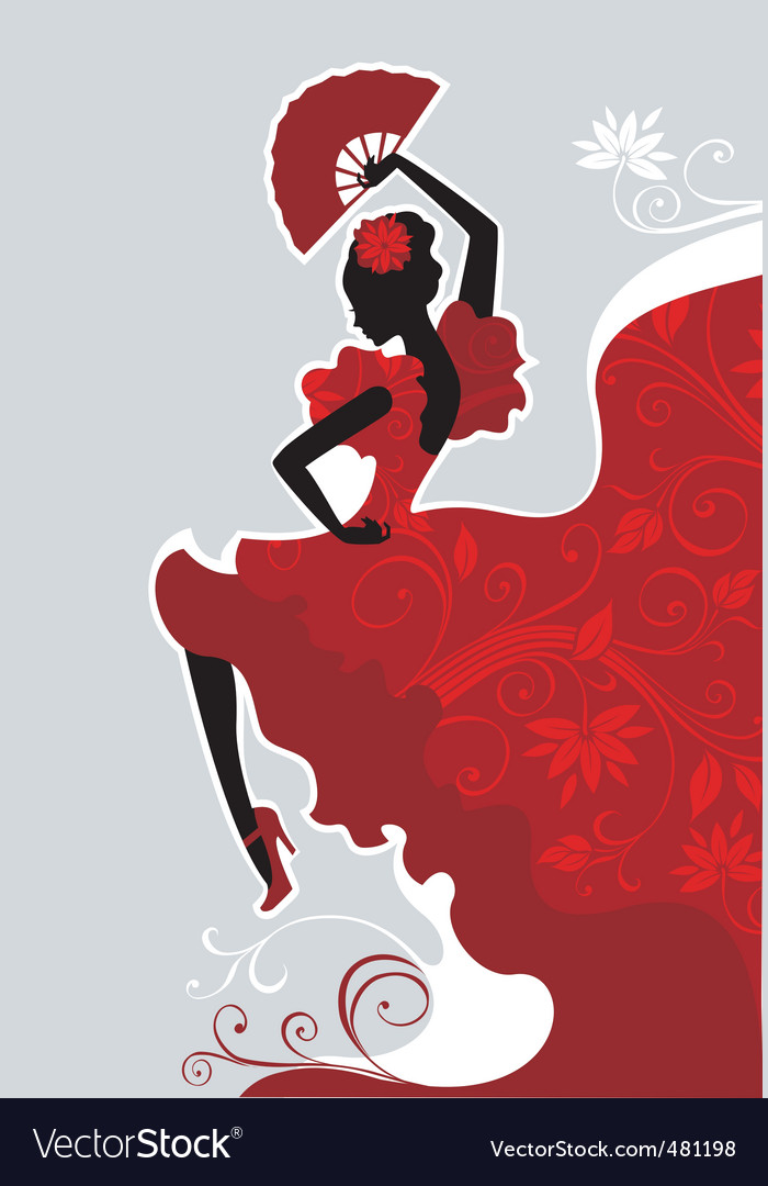 Flamenco dancer vector | Price: 3 Credit (USD $3)