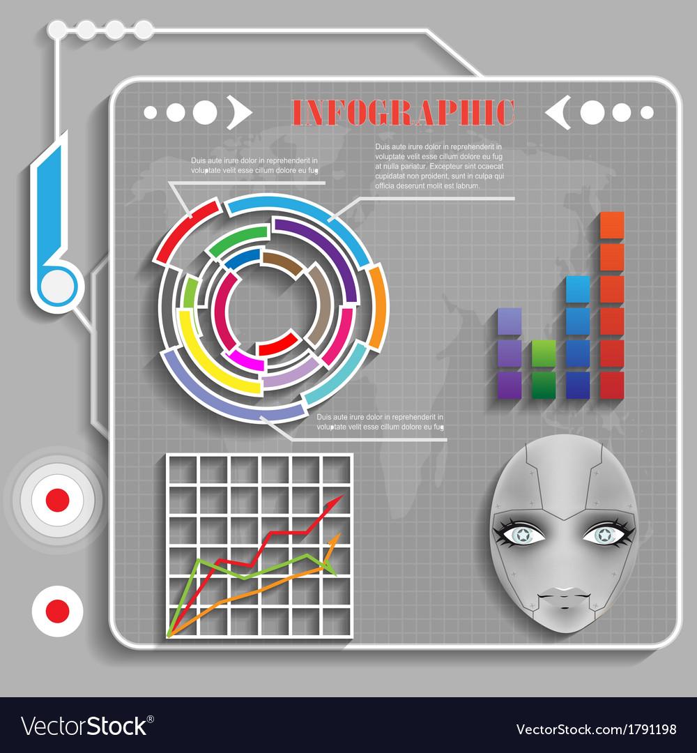 Grey futuristic infographics vector   Price: 1 Credit (USD $1)