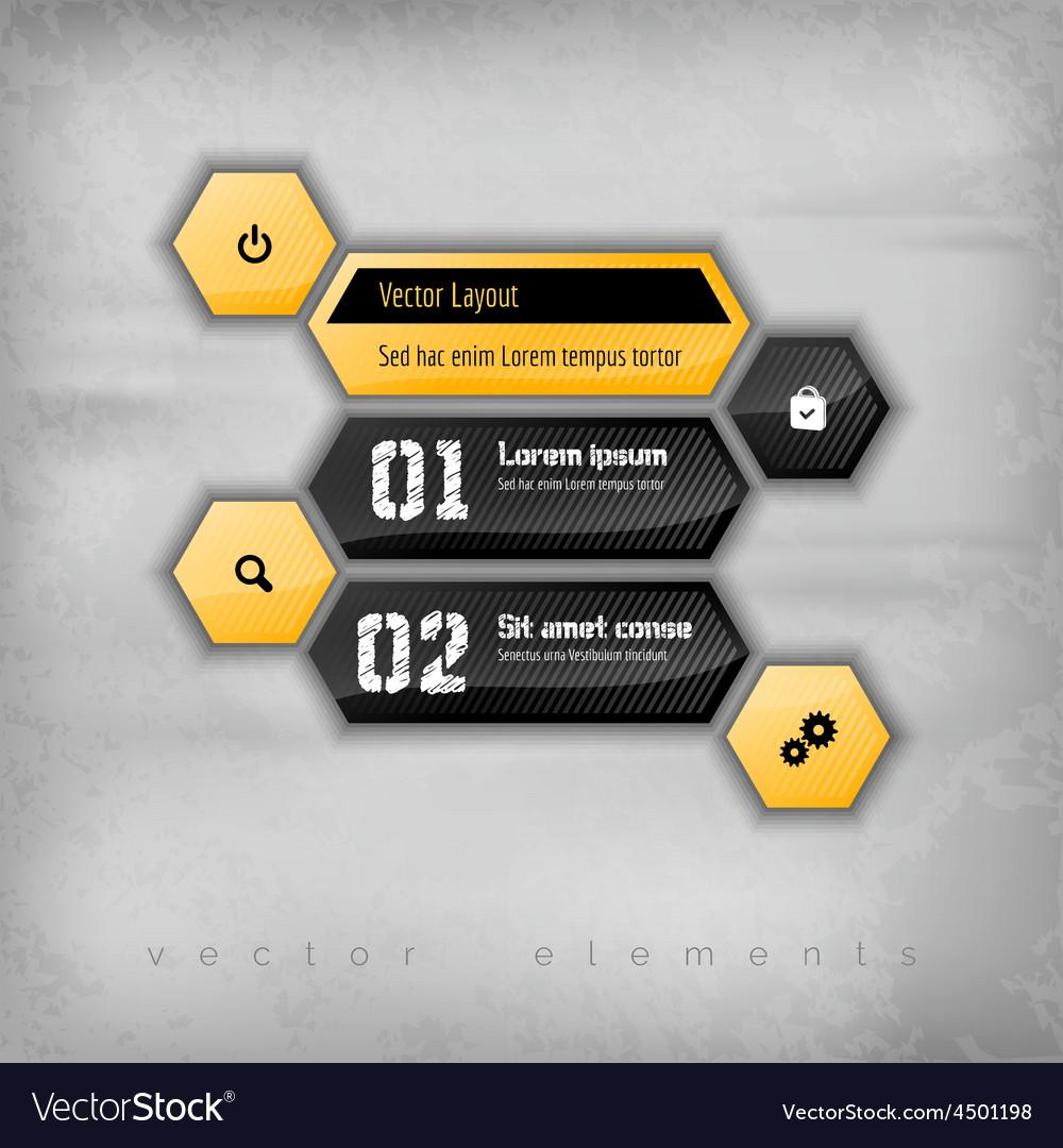 Hexagon layout vector | Price: 1 Credit (USD $1)