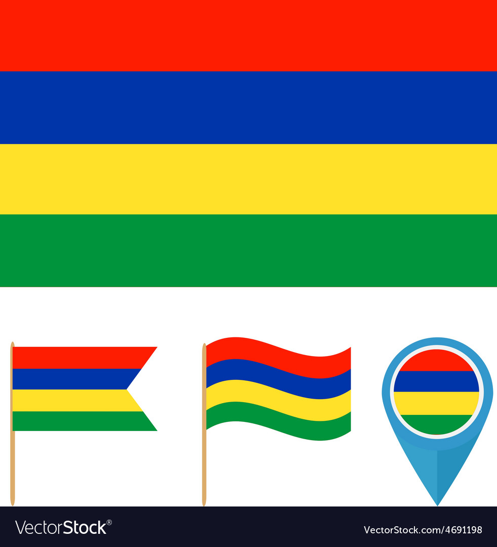 Mauritiuscountry flag vector | Price: 1 Credit (USD $1)
