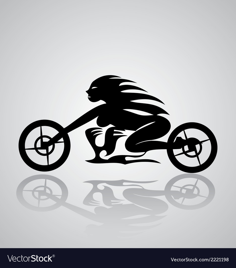 Tribal motorcycle girl vector | Price: 1 Credit (USD $1)