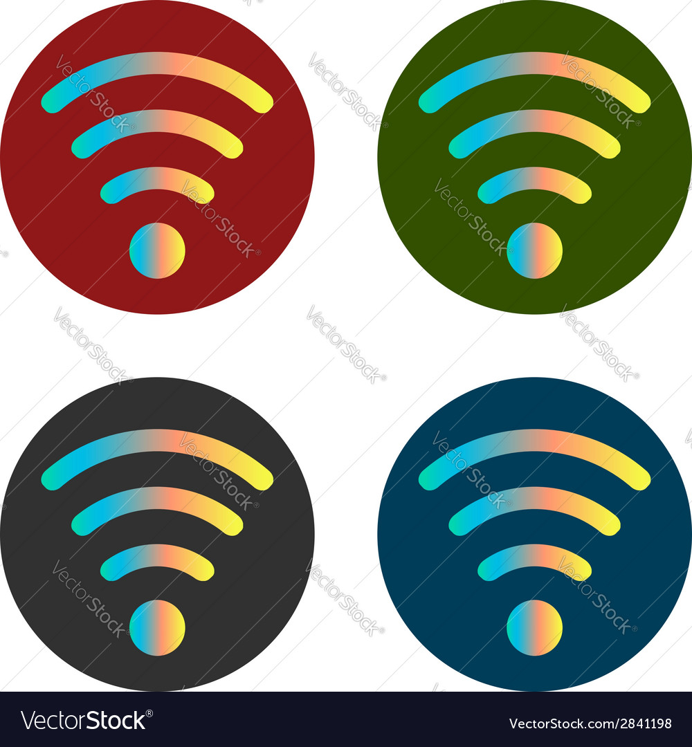 Wi fi icon stickers vector | Price: 1 Credit (USD $1)