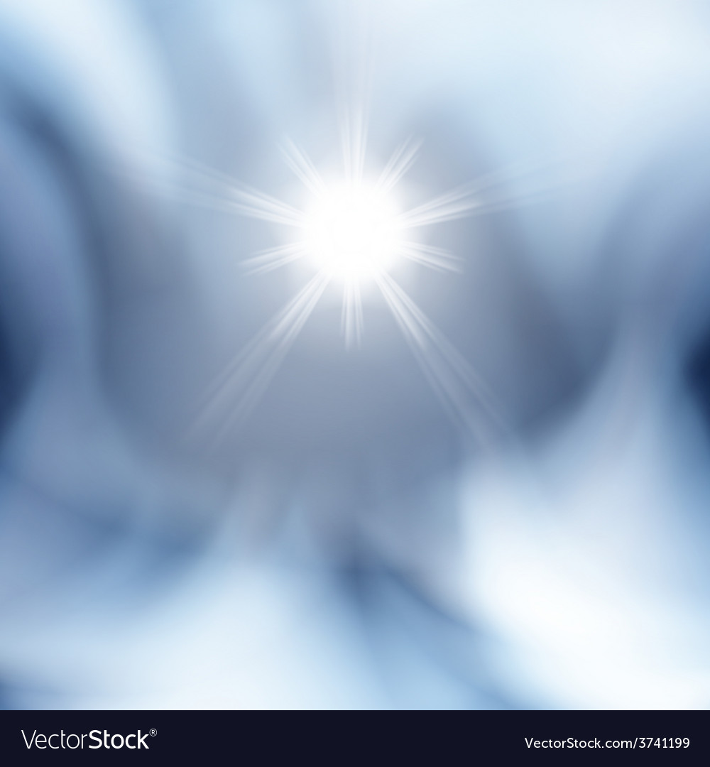 Abstract blue background with sun vector | Price: 1 Credit (USD $1)