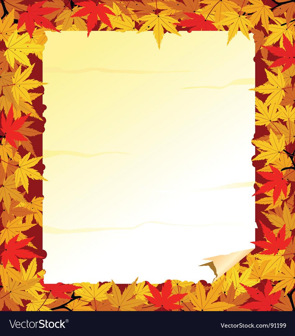 Autumn leaf frame vector   Price: 1 Credit (USD $1)
