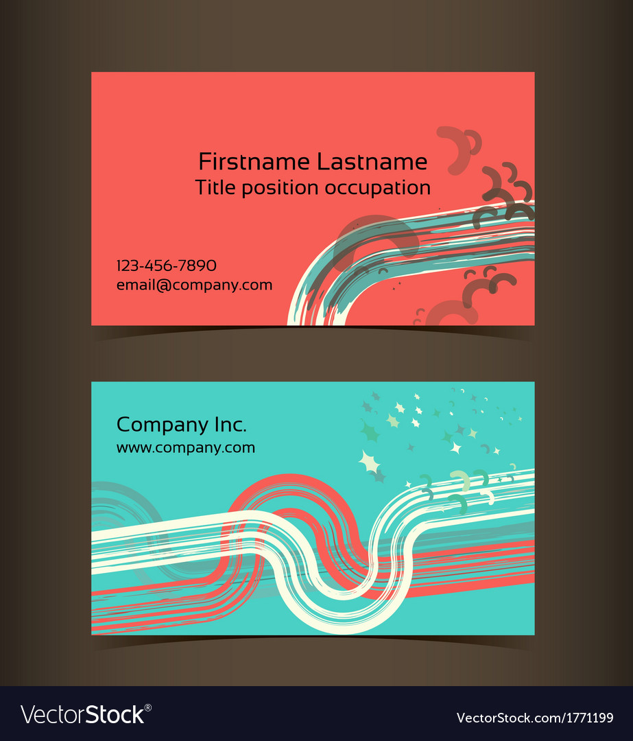 Business card layout editable design template vector | Price: 1 Credit (USD $1)