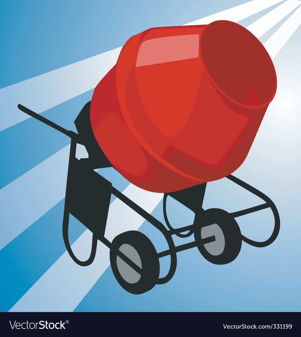 Cement mixer vector | Price: 1 Credit (USD $1)