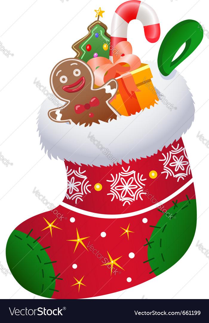 Christmas sock vector | Price: 3 Credit (USD $3)