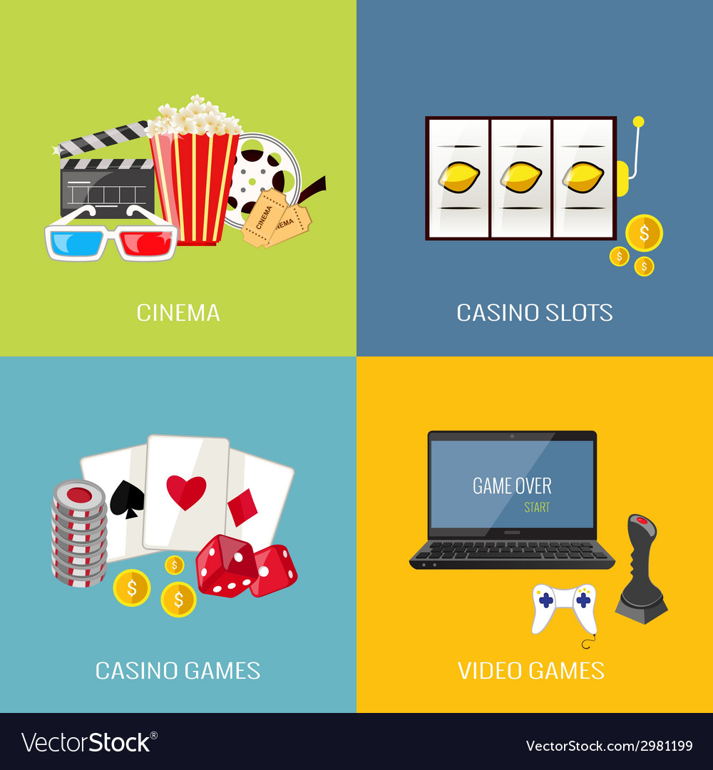 Games flat set vector | Price: 1 Credit (USD $1)