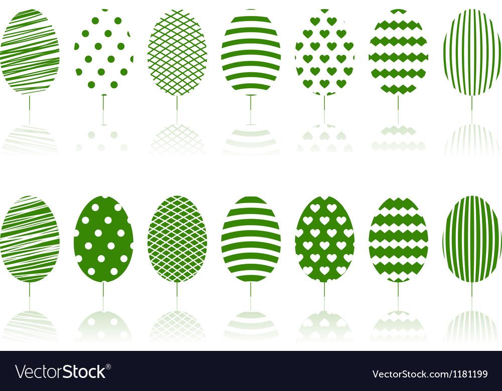 Green decoration garden trees symbols set vector   Price: 1 Credit (USD $1)