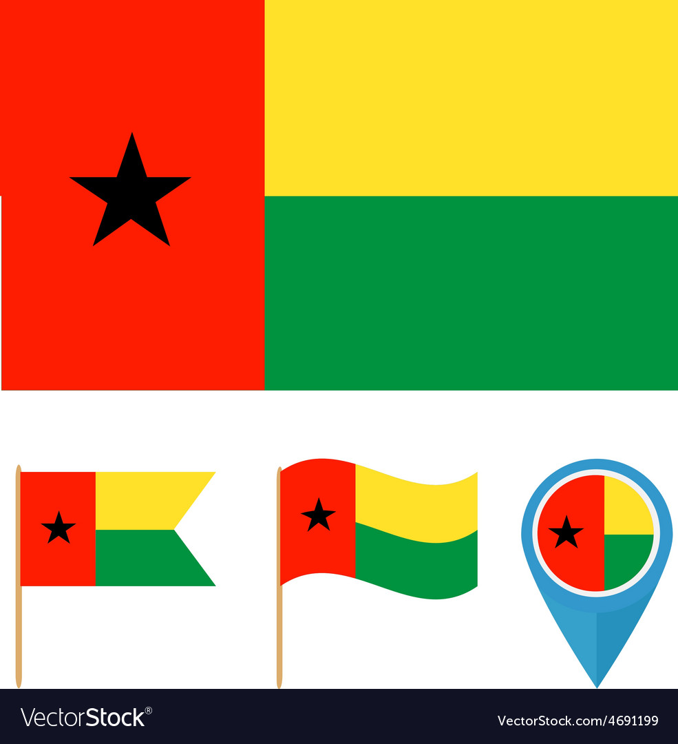 Guinea-bissaucountry flag vector | Price: 1 Credit (USD $1)