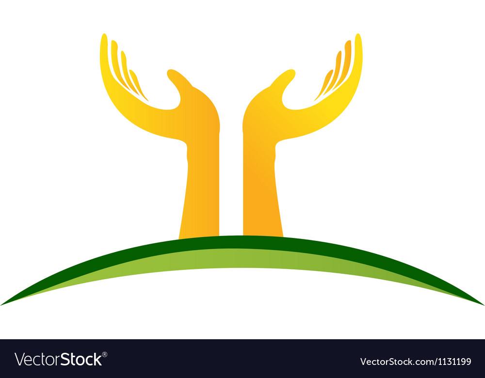 Hands logo vector | Price: 1 Credit (USD $1)