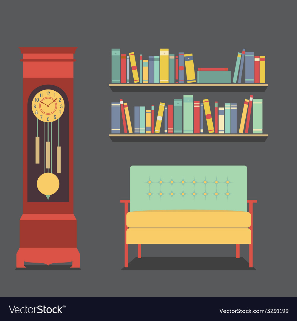 Living room interior design vector | Price: 1 Credit (USD $1)
