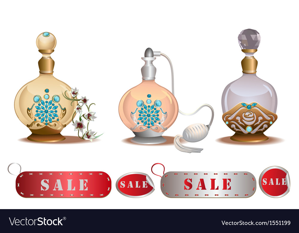 Perfume bottles sale vector | Price: 1 Credit (USD $1)