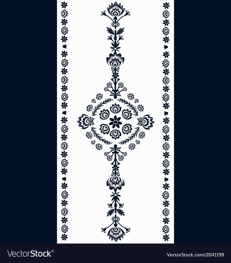 Polish embroidery pattern vector | Price: 1 Credit (USD $1)