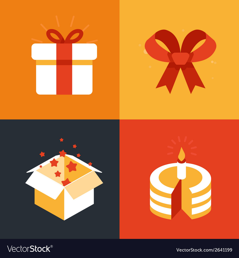 Present emblems and signs vector | Price: 1 Credit (USD $1)