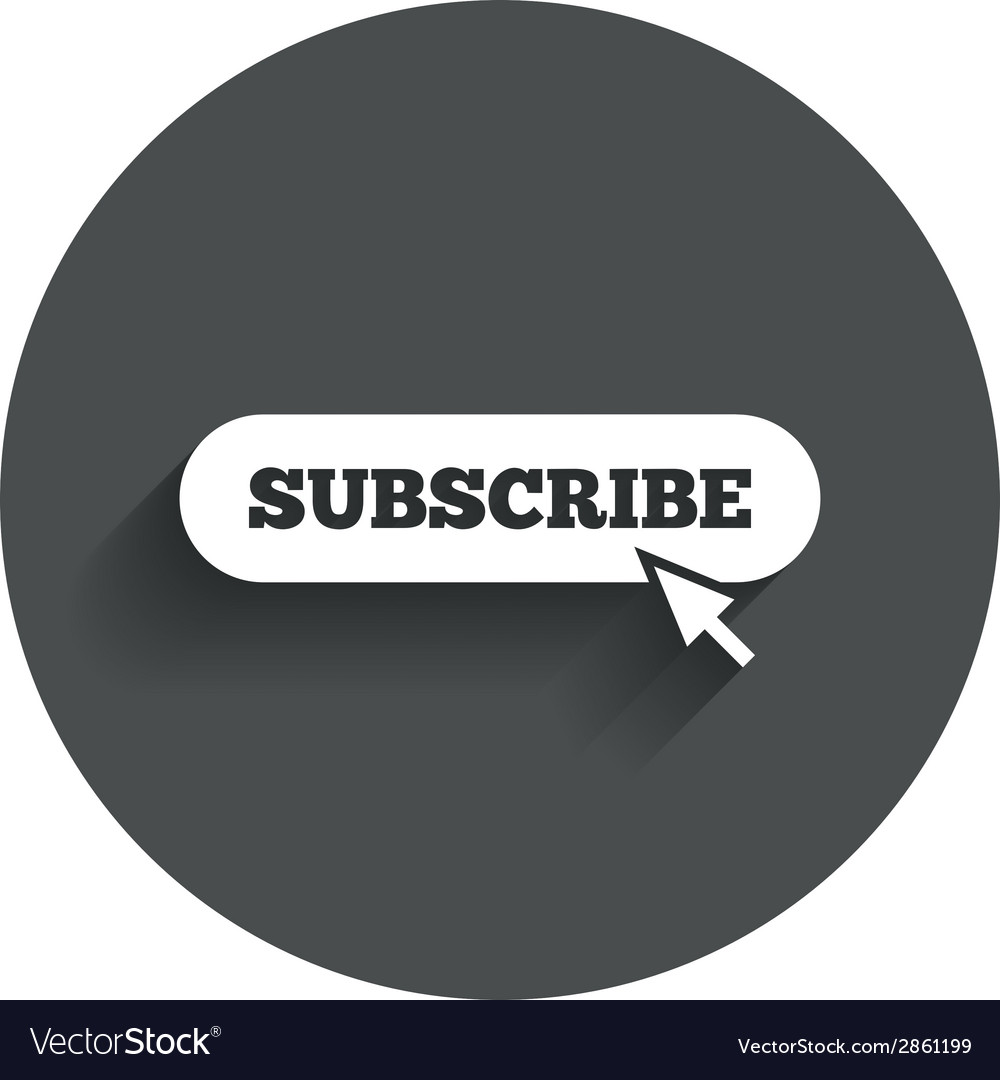 Subscribe with cursor pointer icon membership vector | Price: 1 Credit (USD $1)